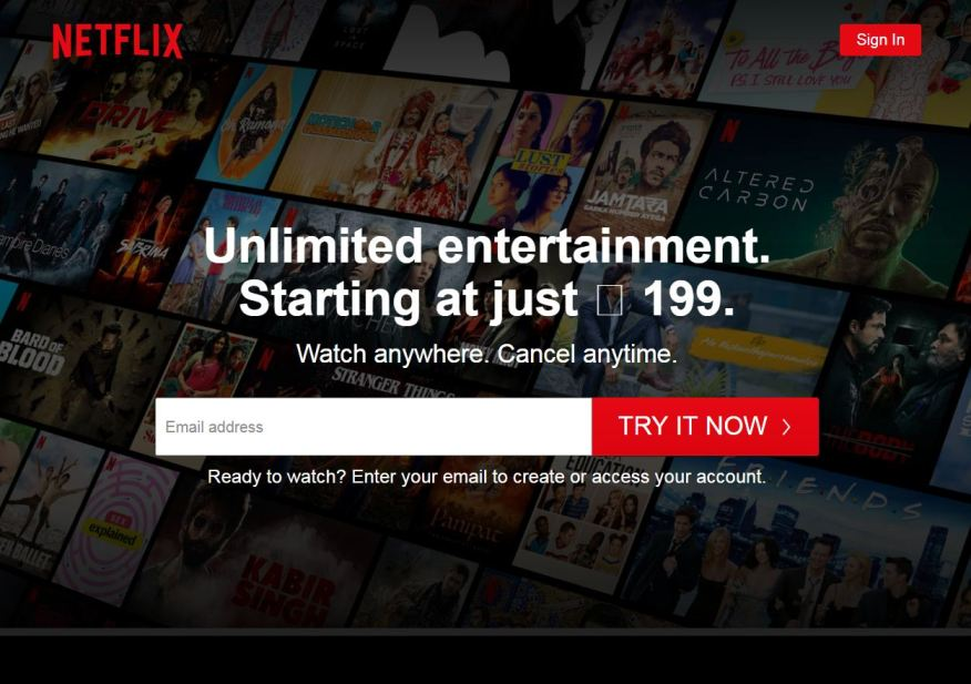 Netflix - most visited website in india