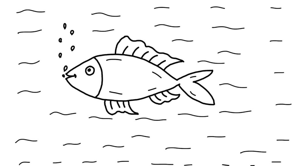 How To Draw A Fish Step By Step Animation For Kids Technomusk