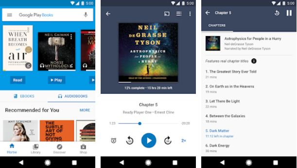 Google Play Books – Audiobook Apps for Android