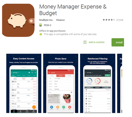 Money Manager Expense & Budget – Finance Apps for Android