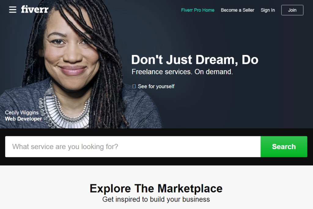 Fiverr -Best Freelancing Websites