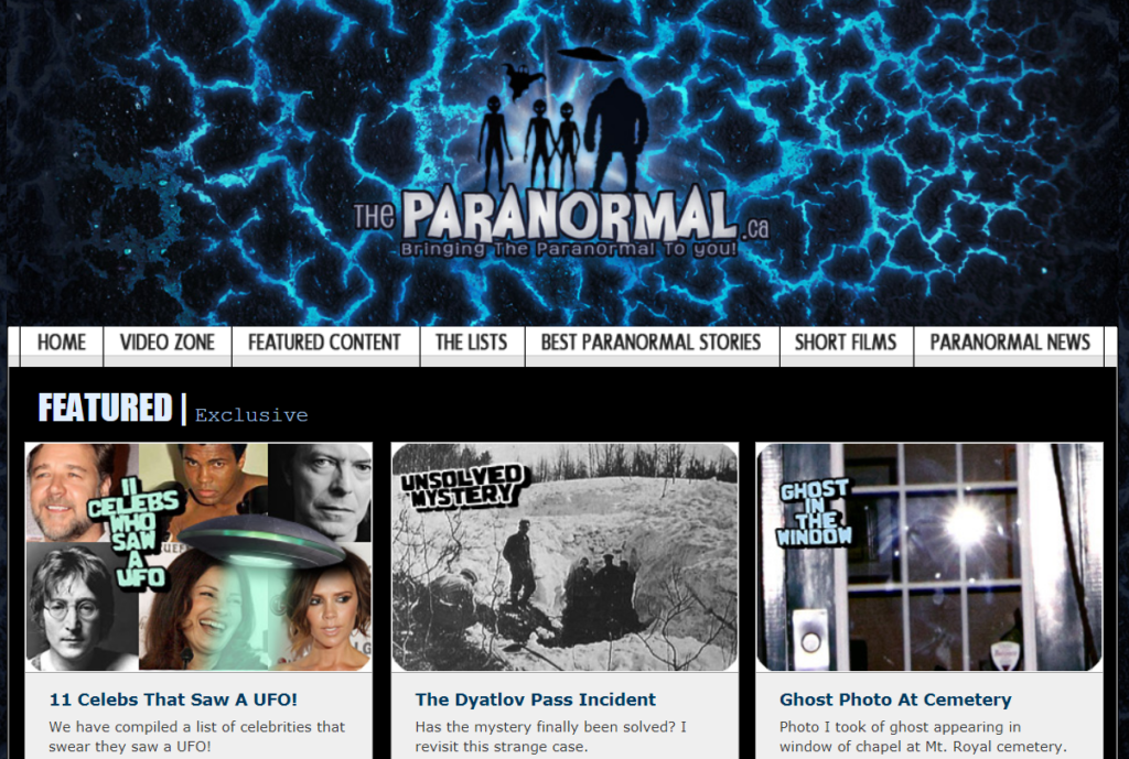 theparanormal - Best Paranormal Websites