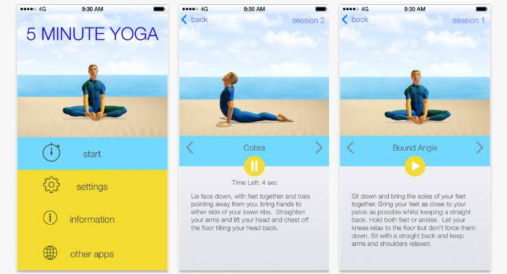 5 Minute Yoga – Best Yoga Apps Android