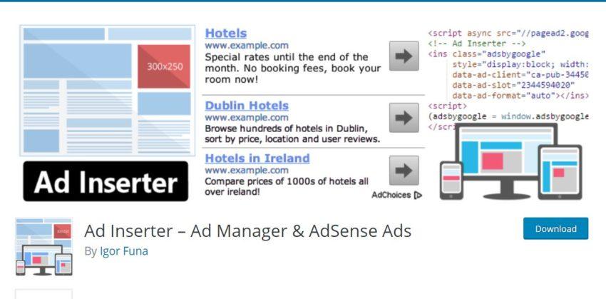 Ad Inserter – Ad Manager & AdSense Ads - WordPress Adsense Plugins