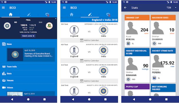BCCI – Cricket Apps for Android