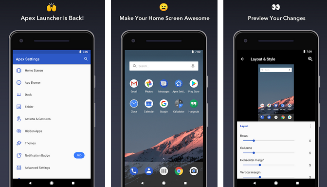 Apex Launcher – Best Hiding Apps for Android