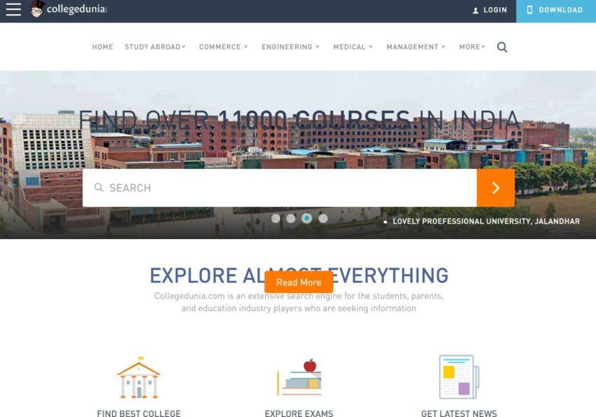 Collegedunia.com – Education Websites in India