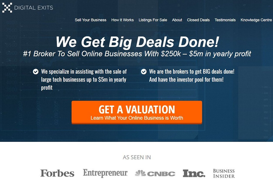 Digital Exits – Buy and Sell Websites
