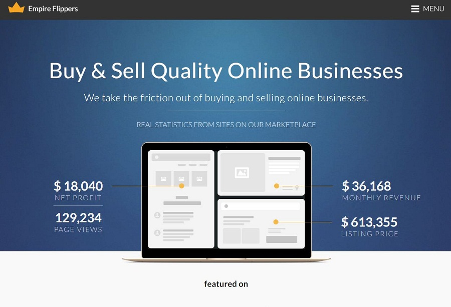 Empire Flippers – Buy and Sell Websites