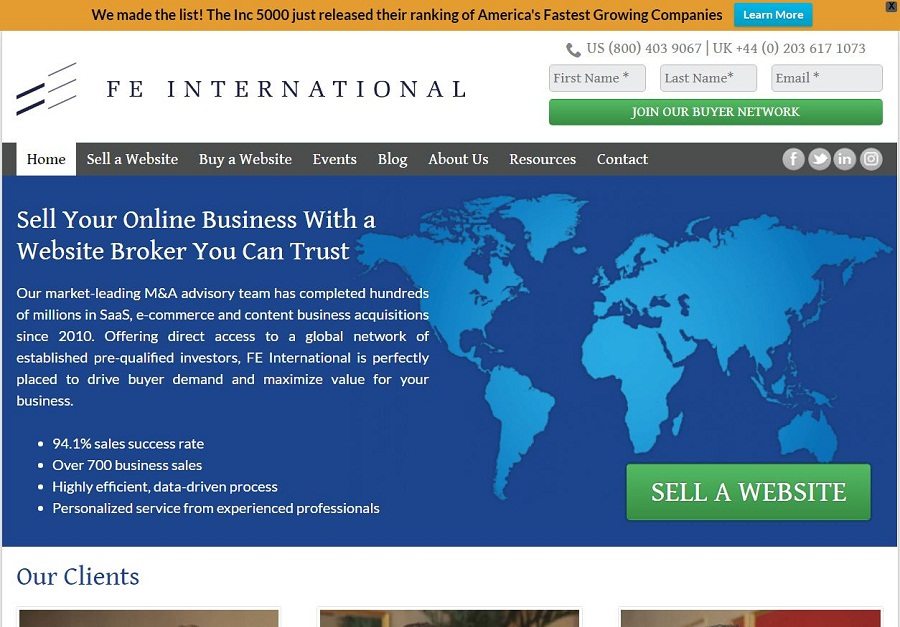 Fe International – Buy and Sell Websites