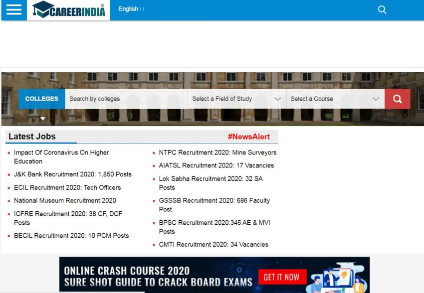 www.careerindia.com– Education Websites in India
