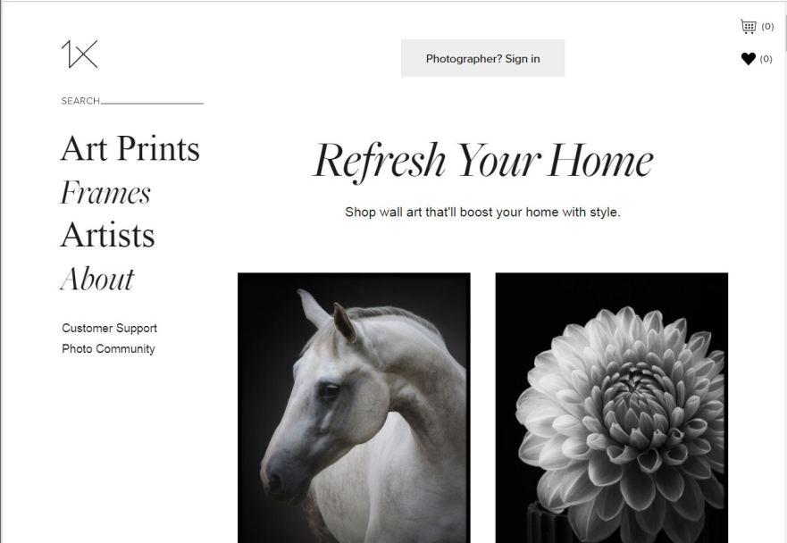 1x.com– Best Free Photo Sharing Websites