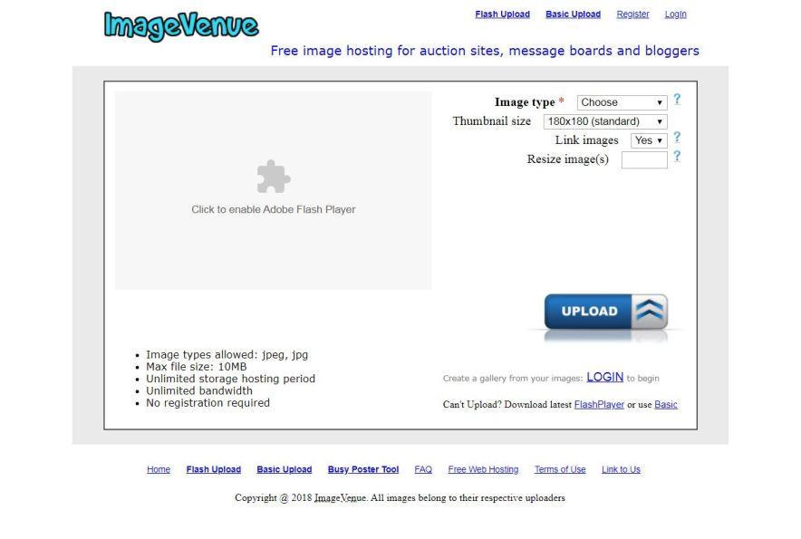 Imagevenue.com– Best Free Photo Sharing Websites