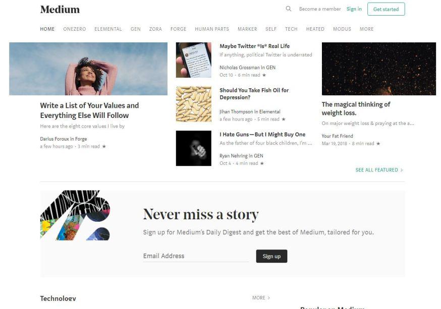 Medium.com – Best Free Photo Sharing Websites