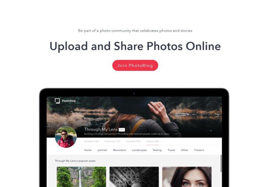 Photoblog.com– Best Free Photo Sharing Websites