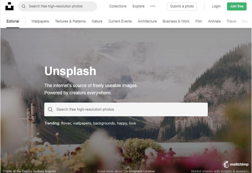Unsplash.com– Best Free Photo Sharing Websites