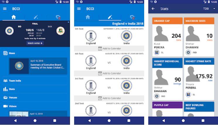 BCCI- IPL Apps