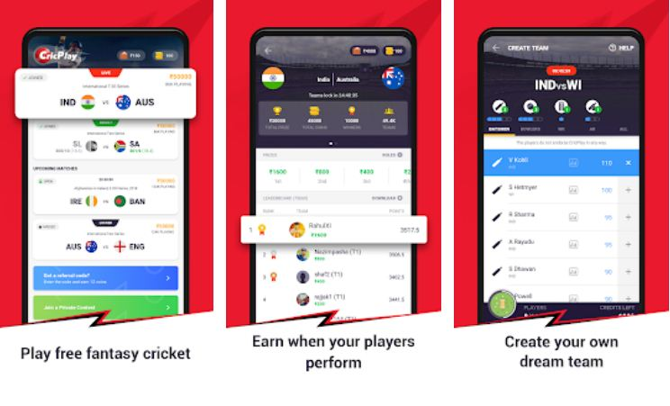 CricPlay – Fantasy Cricket Apps List
