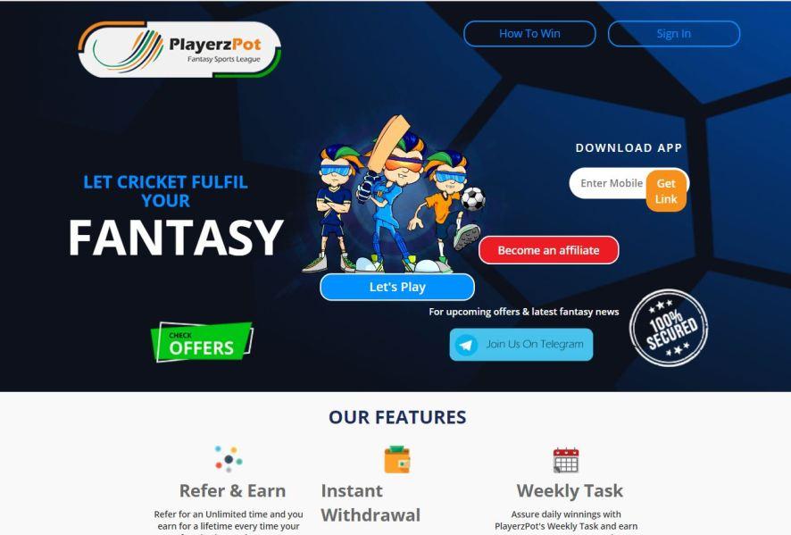 PlayerzPot – Fantasy Cricket Apps List
