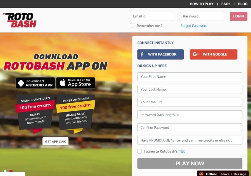Rotobash – Fantasy Cricket Apps List