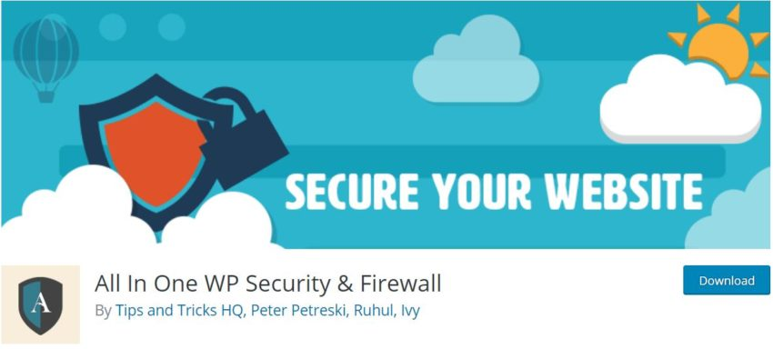 All In One WP Security & Firewall – Best WordPress Security Plugins