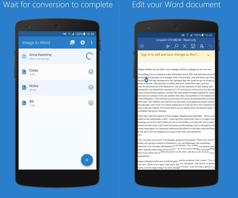 Best Image to Word Converter App for Android Devices