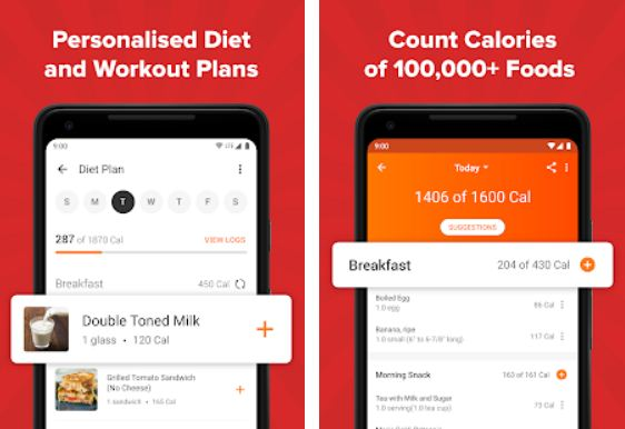 HealthifyMe – Free Food Apps for Android