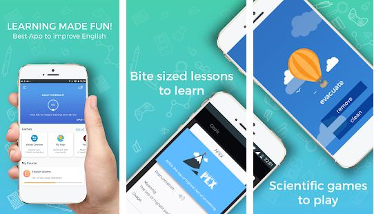 Improve English Vocabulary, Grammar, Word Games - Educational Apps for Kids