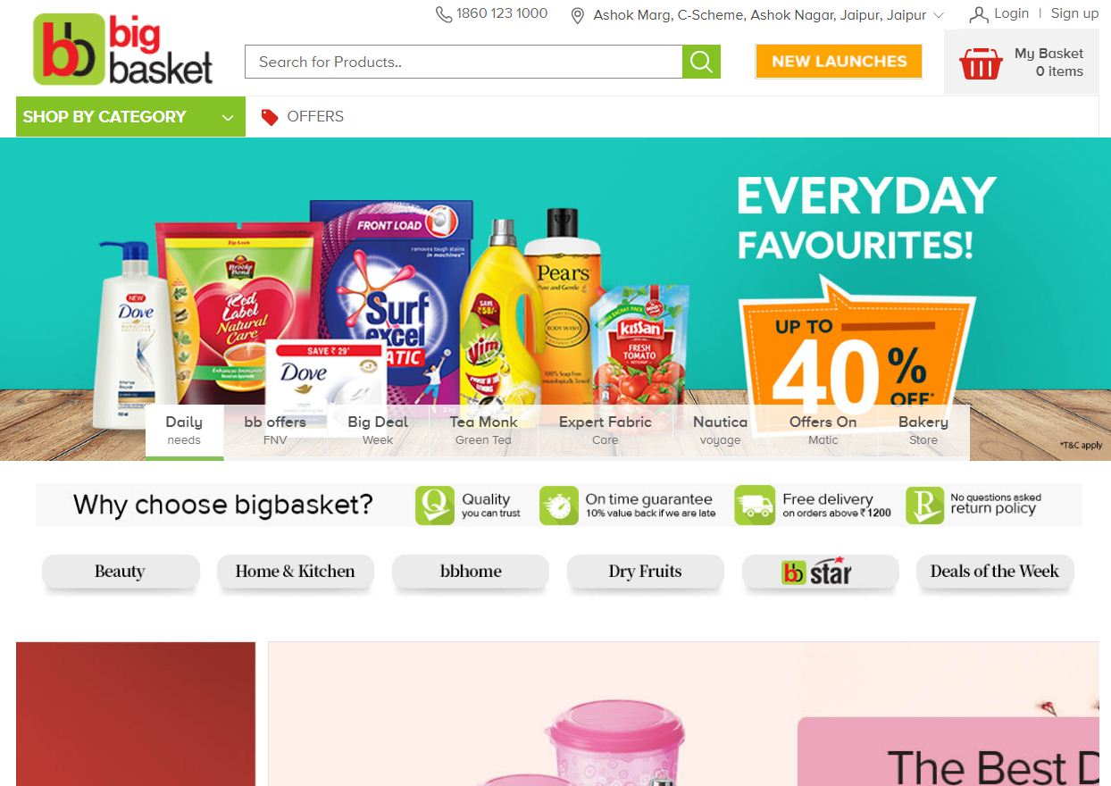 Big Basket - Indian Grocery store online