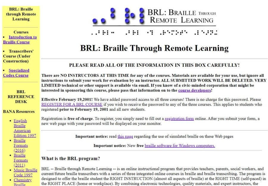 Braille Through Remote Learning