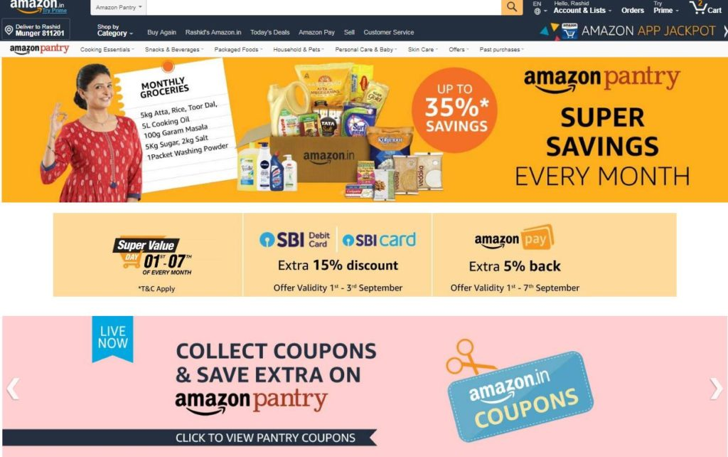 Amazon Pantry - Indian Grocery store online