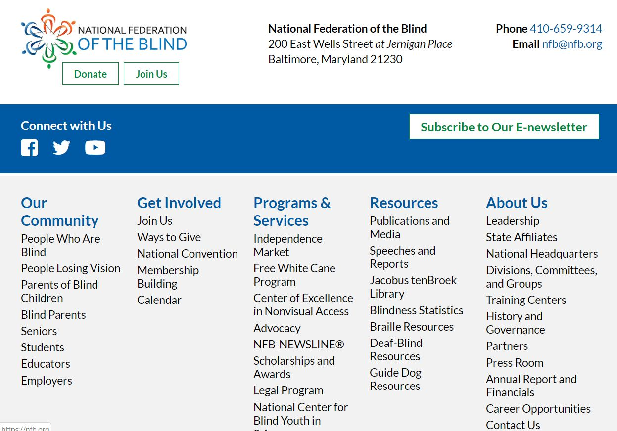 National Federation for The Blind