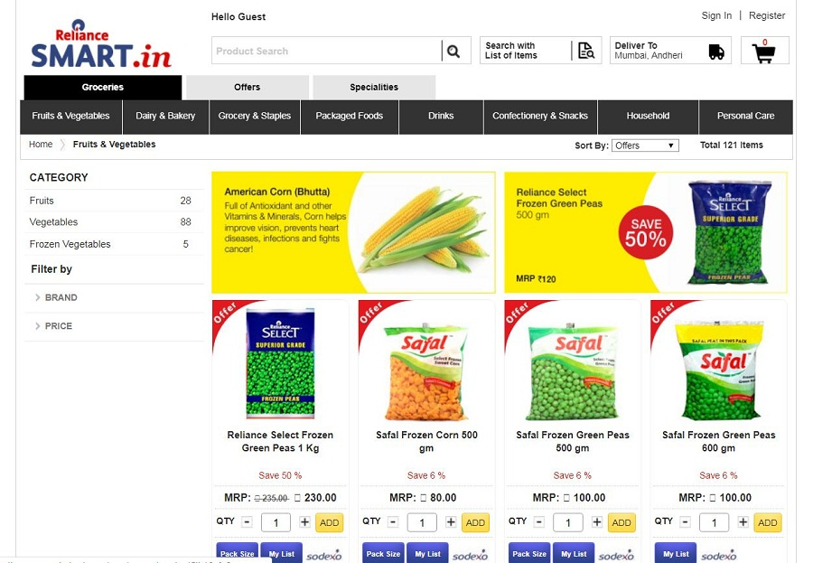 Reliance Smart - Indian Grocery store online
