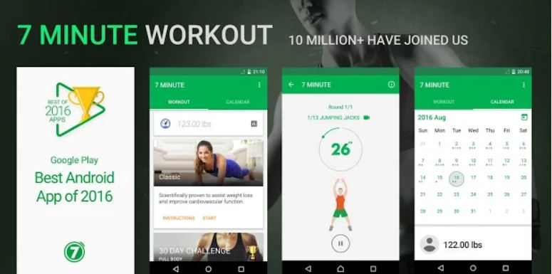 7 Minute Workout - Best Fitness Apps for iPhone