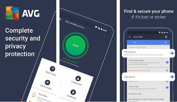 AVG Antivirus – Essential Android Apps