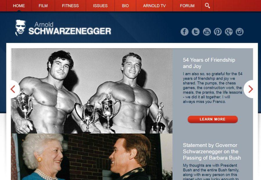 Arnold Schwarzenegger - Foreign Celebrity Websites