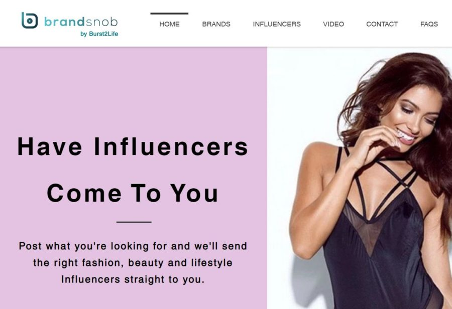 Brandsnob - Websites for Influencers