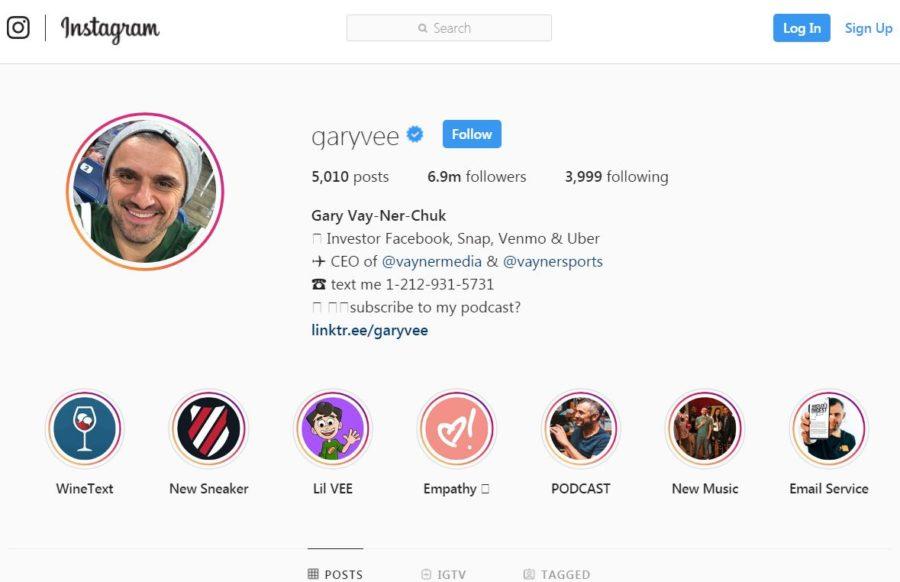 Gary Vee Instagram