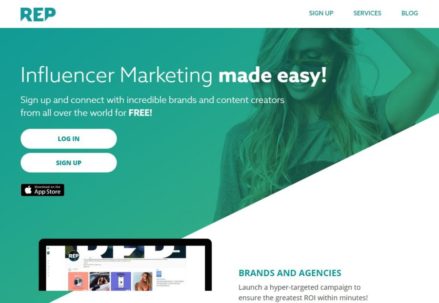 Repped - Websites for Influencers