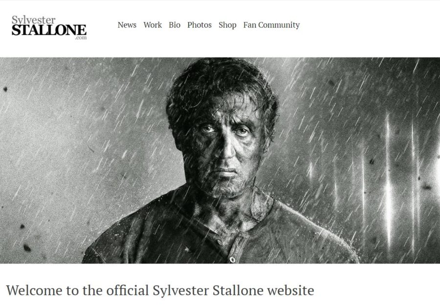 Sylvester Stallone - Foreign Celebrity Websites
