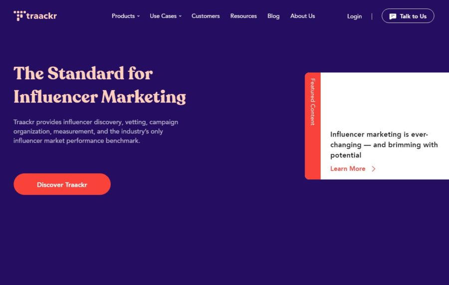 Traackr - Websites for Influencers