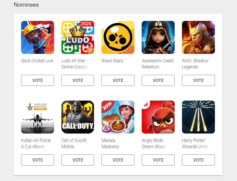 Google Play Users' Choice Game