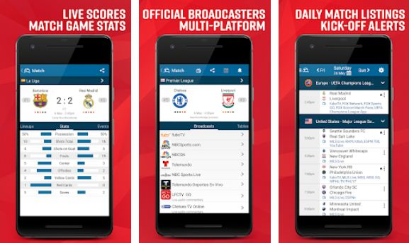 Live Soccer TV - Scores, Stats & TV Streaming info - Football Streaming Apps for Android and iPhone