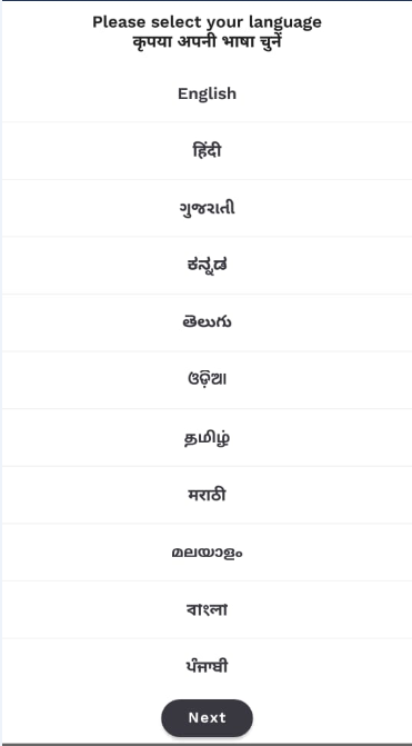 Aarogya Setu App languages