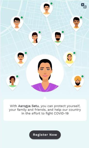 Aarogya Setu App register