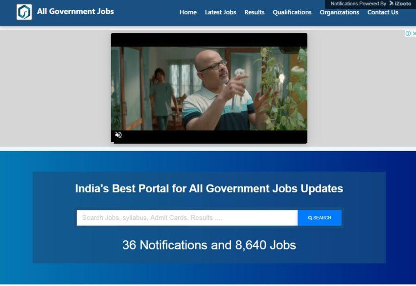 All Government Jobs - Best Sarkari Naukri Websites