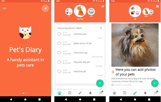 Animal and pet care diary - Best Pet Apps for Android