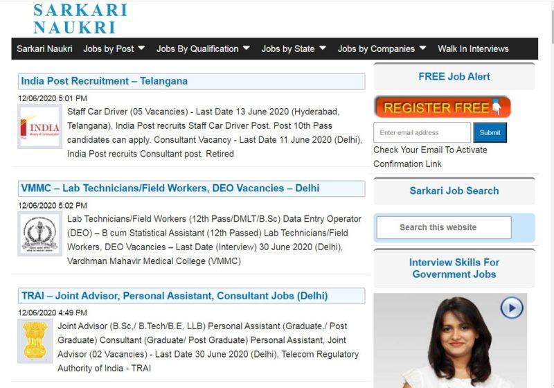 Sarkari Naukri - Best Sarkari Naukri Websites