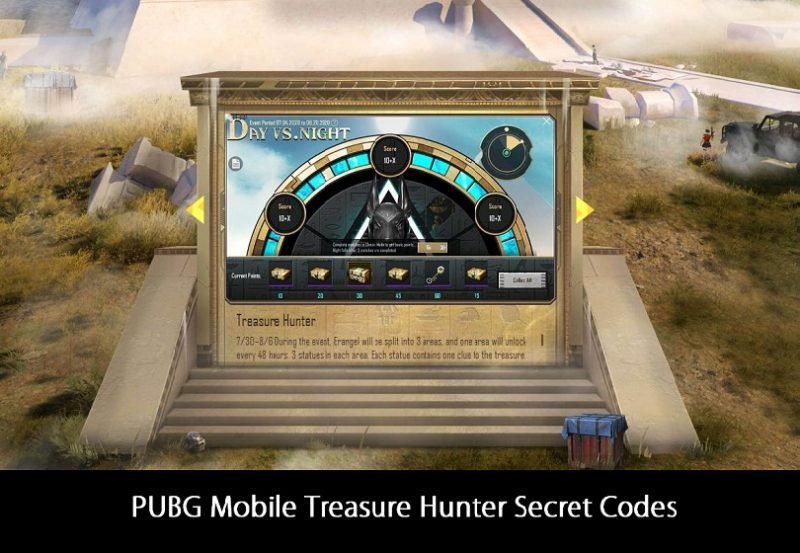 PUBG Mobile Treasure Hunter Secret Codes