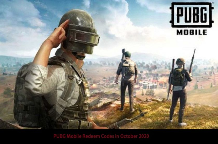 PUBG Mobile Redeem Codes in October 2020